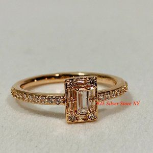 Pandora Rose Gold Ring 180919CZ Entwined Wide Ring